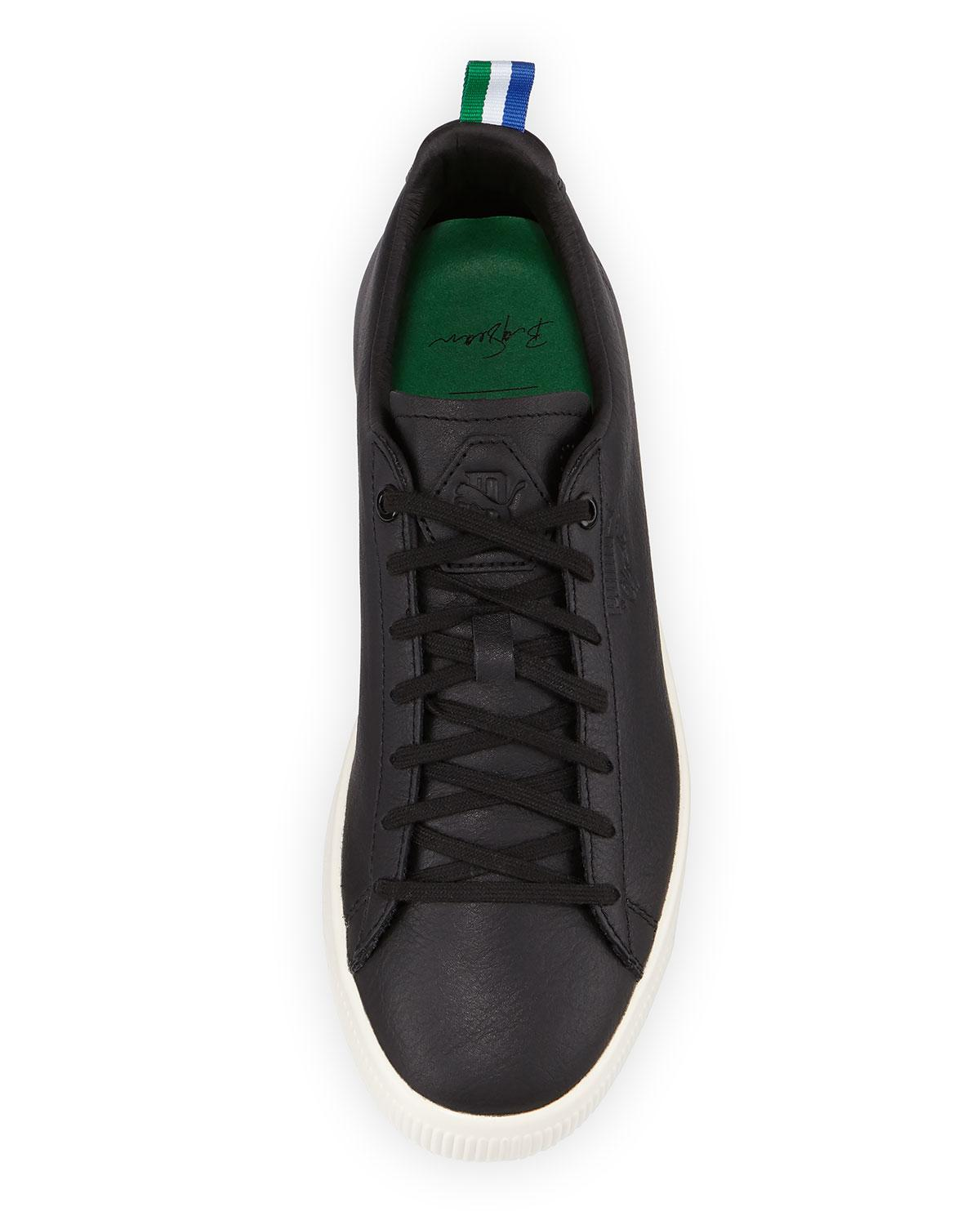89e25312cc2 Lyst - PUMA X Big Sean Clyde Low-top Leather Sneakers in Black for Men