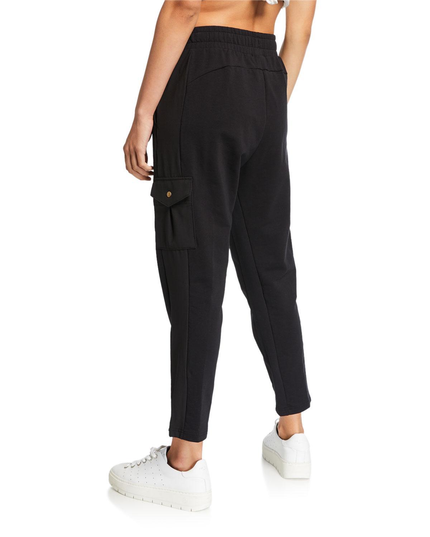 9d283d8762b3 Lyst - PUMA Fusion Cropped Woven Logo Pants Black in Black