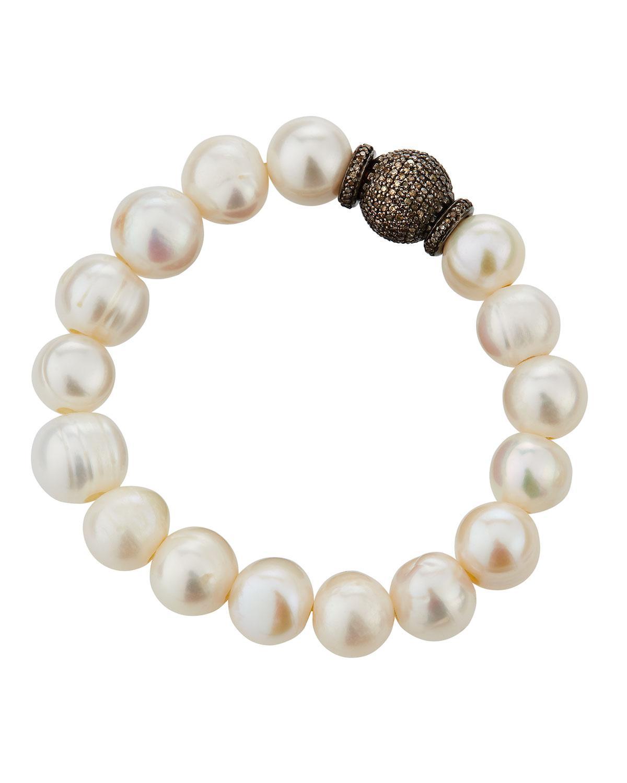 Bavna Round Baroque Pearl Bracelet 5KxqBY9lz
