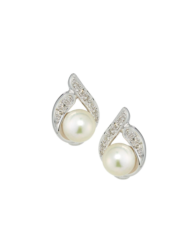 Belpearl 14k Diamond & Pearl Flower Stud Earrings D2mKYLfX9