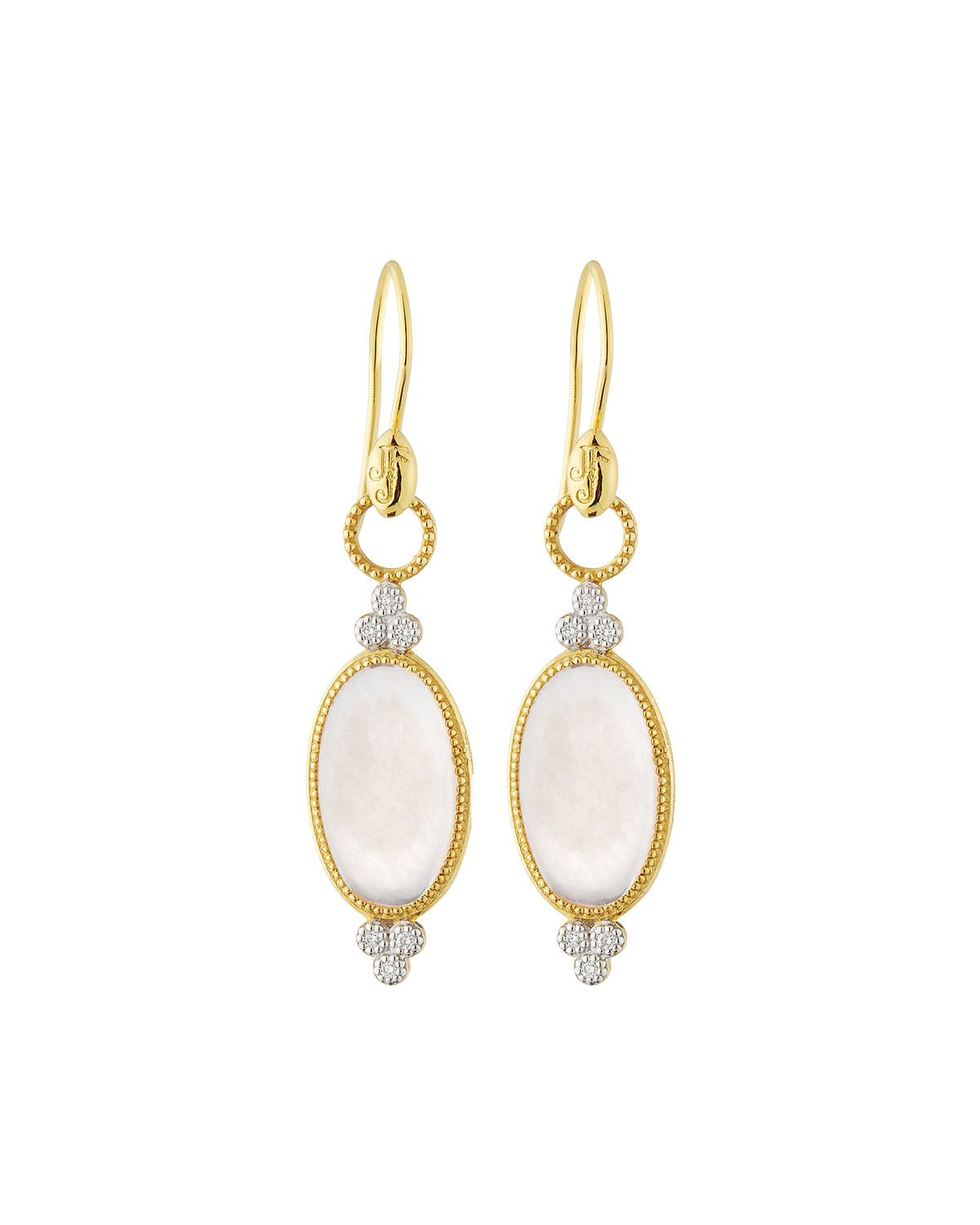 Jude Frances Provence Pearl Drop Earrings in 18K Rose Gold EmElop