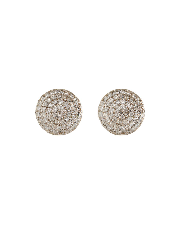 Gurhan 24k Black Diamond Button Earrings fvsQ2kOjPv