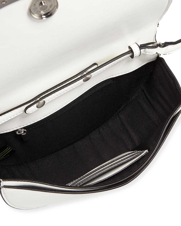 9e502a58861 Lyst - Sam Edelman Dina Half-moon Crossbody Bag in White - Save 69%