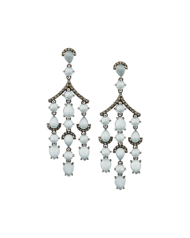 Bavna Diamond Double-Horn Dangle Earrings 69KSn