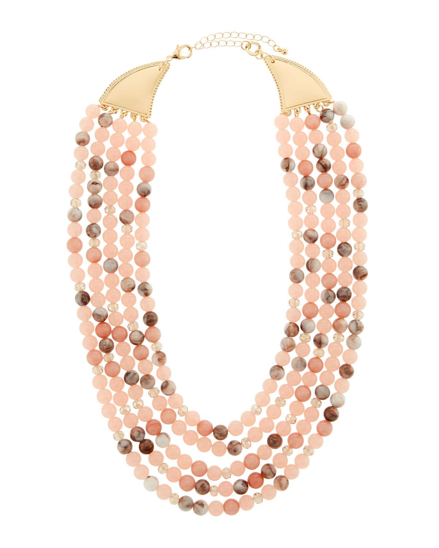 Lydell Nyc Multi-Row Semiprecious Necklace xWAGPl