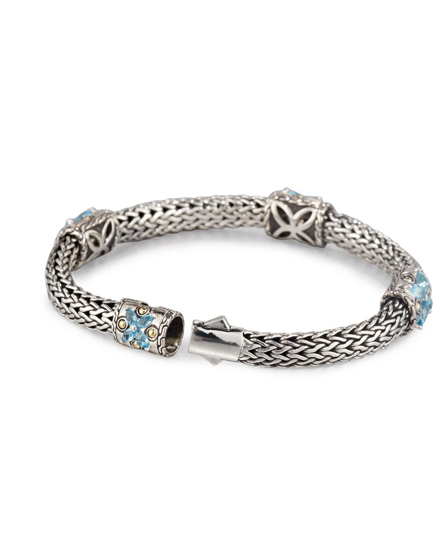John Hardy Looped Chain Bracelet w/ Pave Diamond Station fObxFf