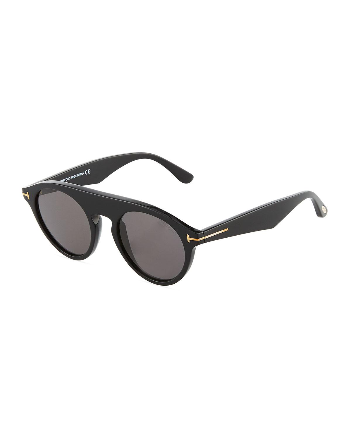 c6849389114d Lyst - Tom Ford Christopher Semi-shield Acetate Sunglasses in Black