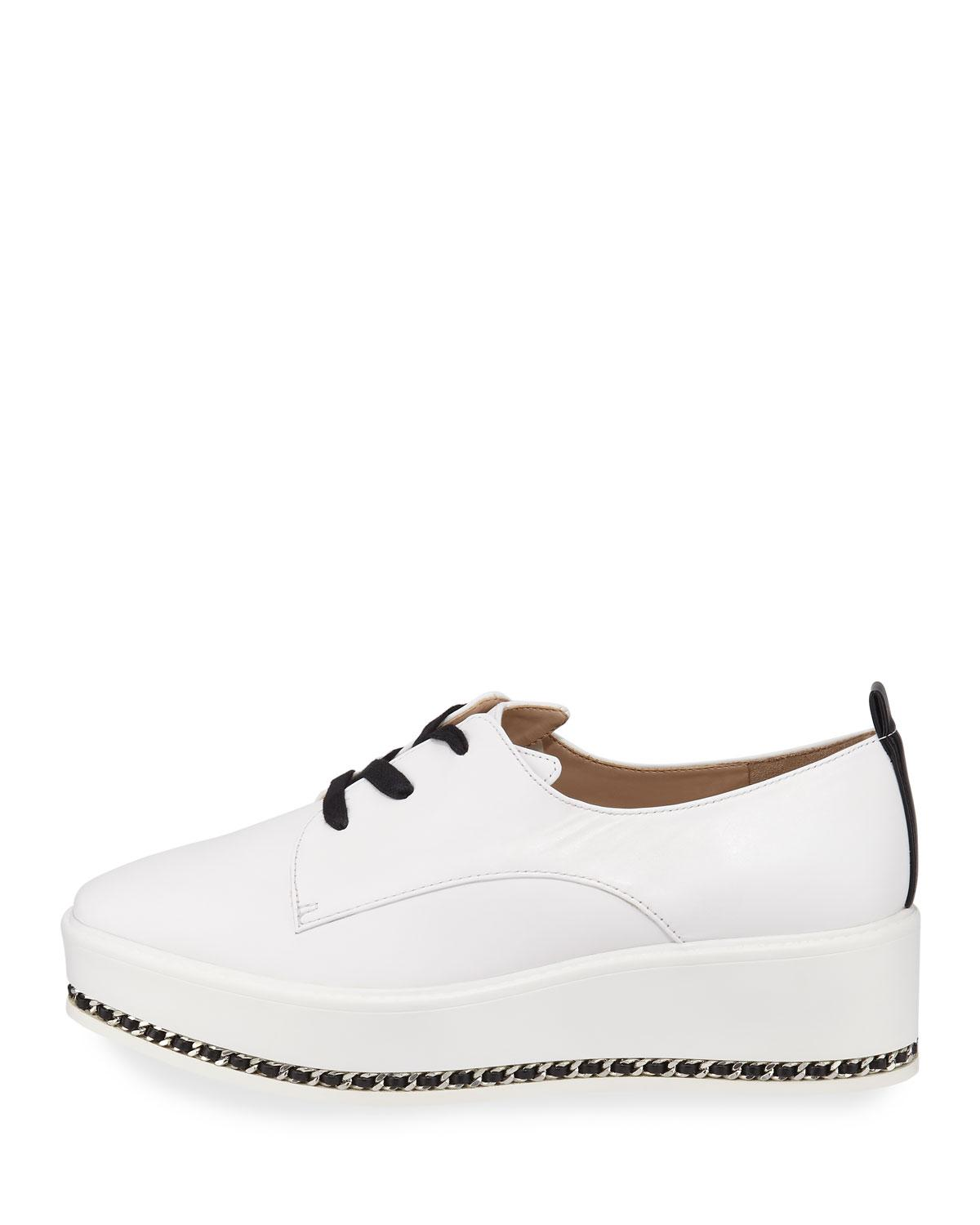 0d13ae89f701 Lyst - Karl Lagerfeld Bali Leather Platform Sneakers in White