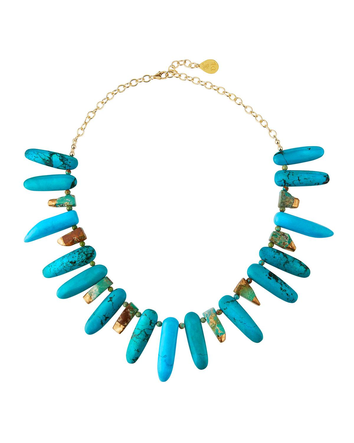 Devon Leigh Copper Infused Turquoise Multi-Strand Necklace wMOmxUvooQ