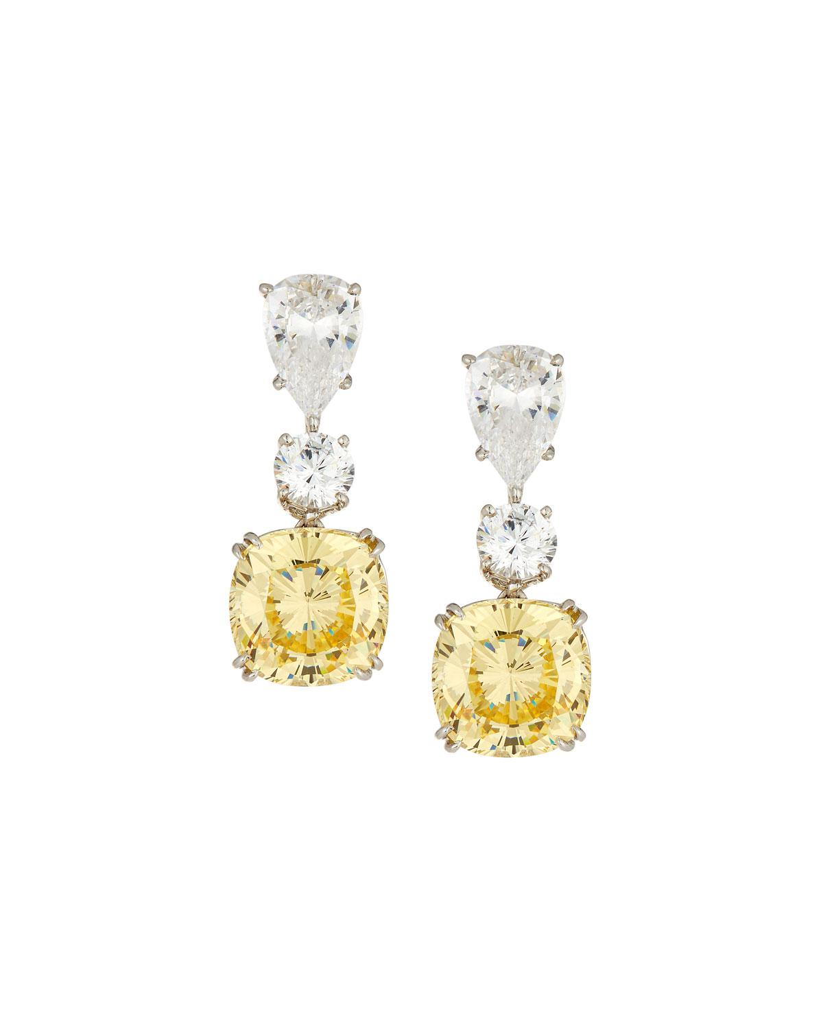 Fantasia Linear Teardrop Cubic Zirconia Earrings 9XoPF