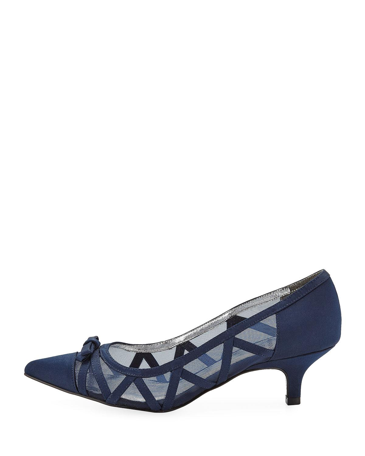 20041809784e Lyst - Adrianna Papell Lana Pointed Mesh Pumps in Black