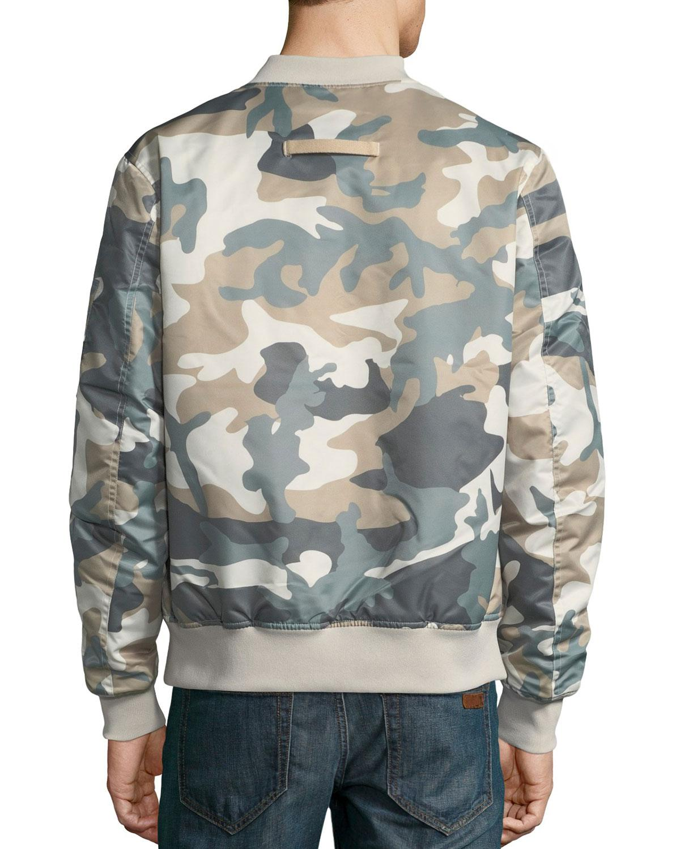 c6b1d680f72b5 Wesc Men's Camouflage Lightweight Bomber Jacket in Gray for Men - Lyst
