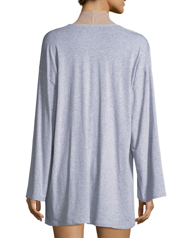 ca7107dee9 Lyst - Cosabella Palazzo Lace-trim Jersey Kimono