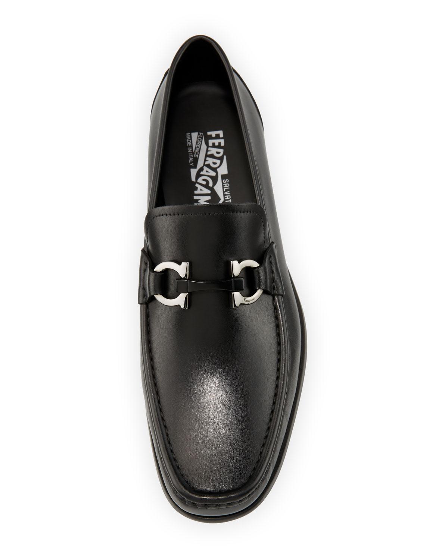 0f426a8534c Ferragamo Men s Benford Gancini-bit Leather Loafer in Black for Men - Save  67% - Lyst