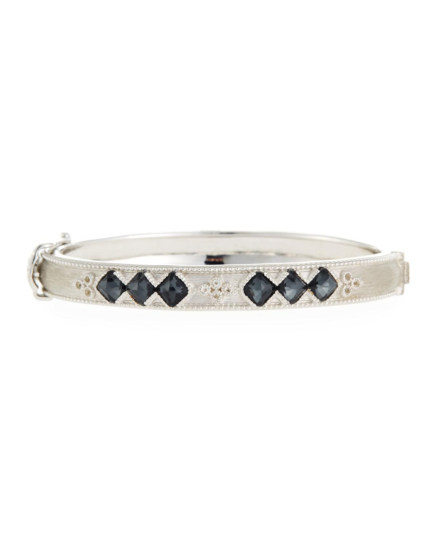 Jude Frances Moroccan Silver Cushion Bangle Bracelet in Iolite kdALQ1uodU