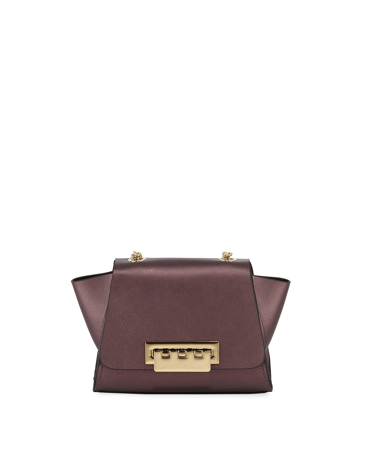 5259e3a4690c Lyst - Zac Zac Posen Eartha Metallic Leather Top-handle Crossbody ...