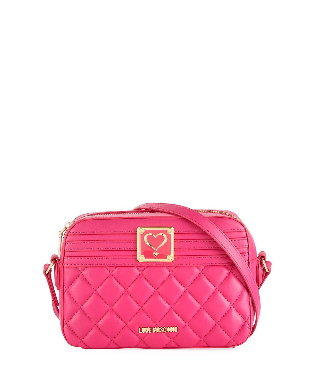 Love Moschino Logo-Embossed Faux Crossbody Bag bFG3cZYJF