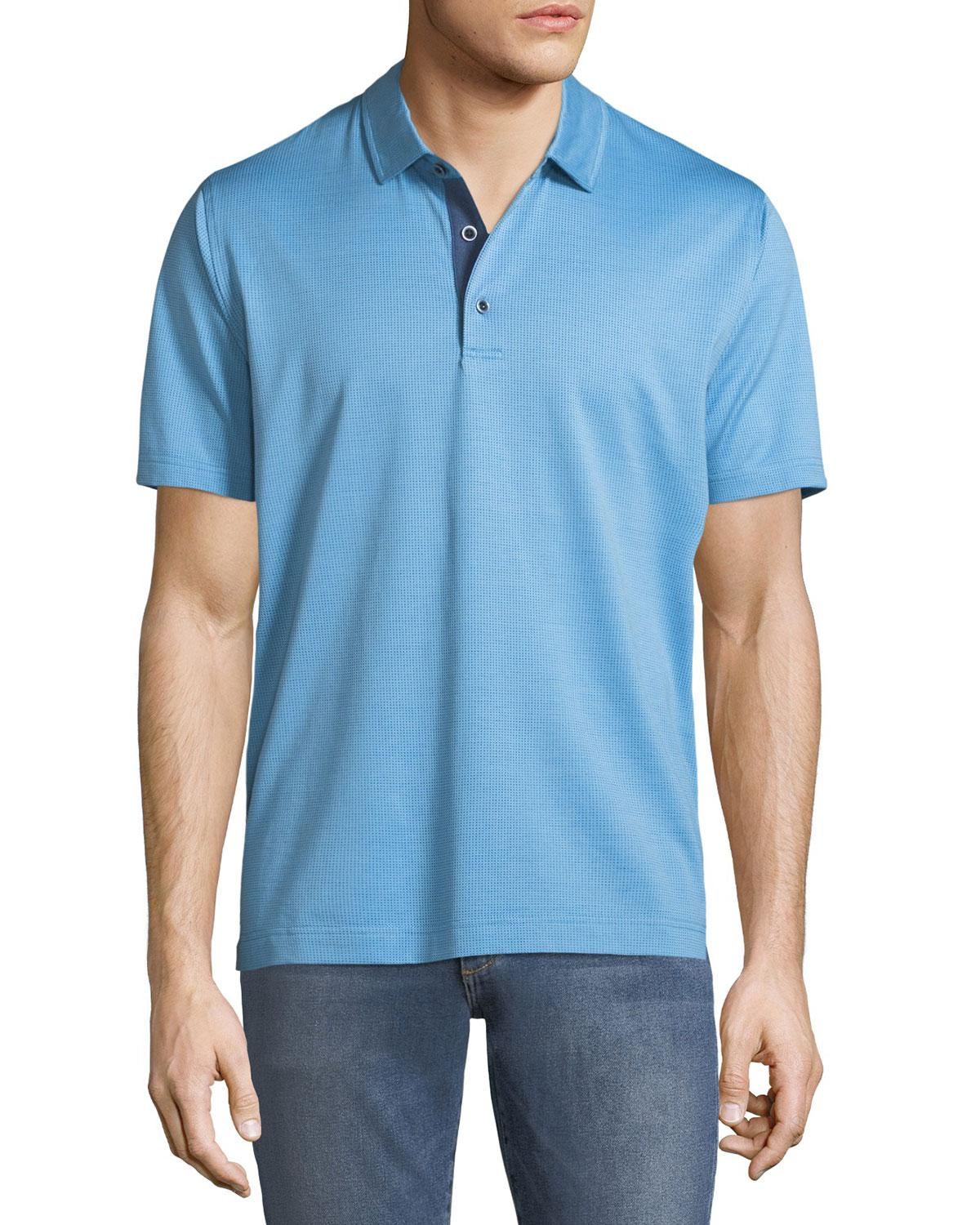85eac194 Lyst - Robert Graham Turnell Dot-jacquard Knit Polo Shirt in Blue ...