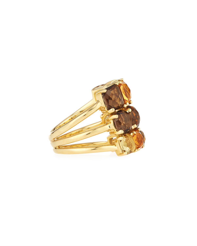 Ippolita 18k Rock Candy Cluster Stud Earrings, Caramel