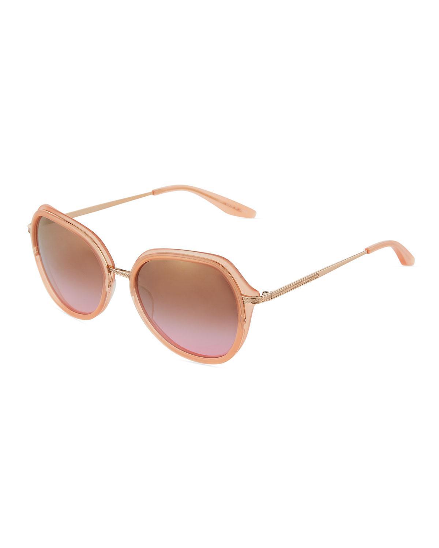0df8c0a5d2b1 Barton Perreira. Women s Leilani Round Mirrored Sunglasses Rose