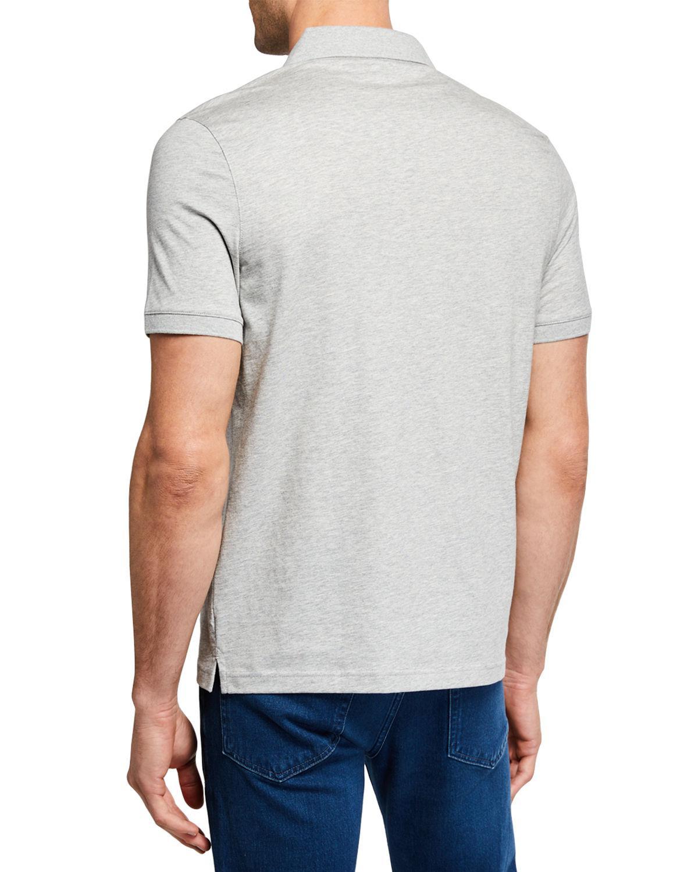 fc73b787d Lyst - Michael Kors Men s Short-sleeve Metal-button Polo Shirt in Gray for  Men
