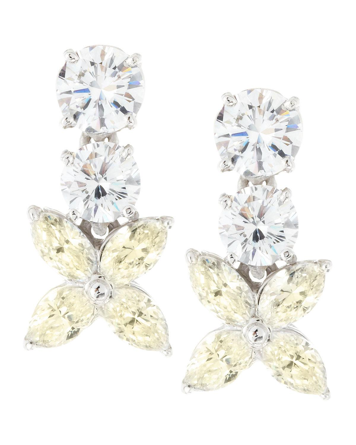 Fantasia 5 Ct. CZ Studs in Yellow Gold