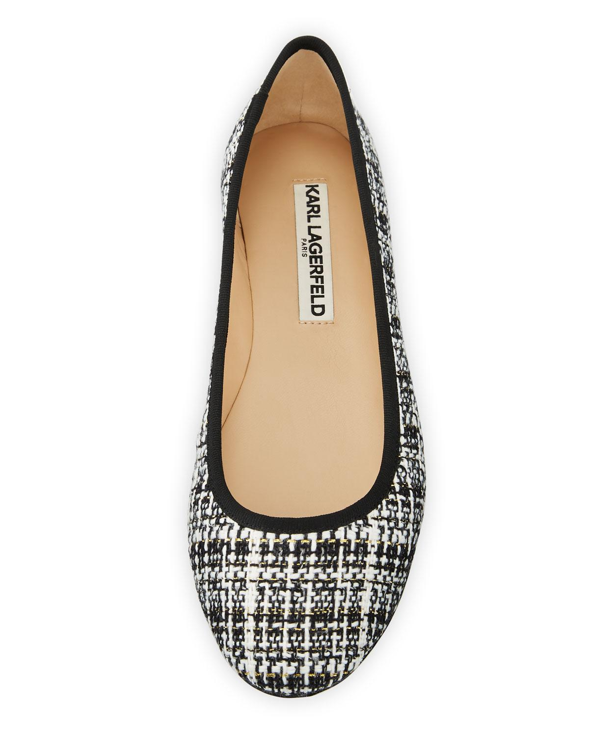 e919ab7dd133 Lyst - Karl Lagerfeld Leroux Sequined Ballet Flats