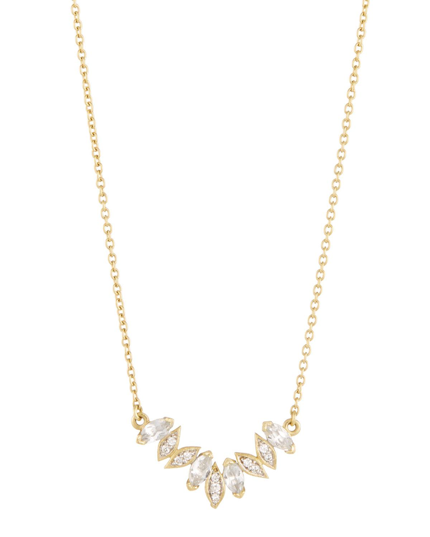 Jude Frances 18k Lisse Cushion Stone Necklace w/ Diamonds GDkYV