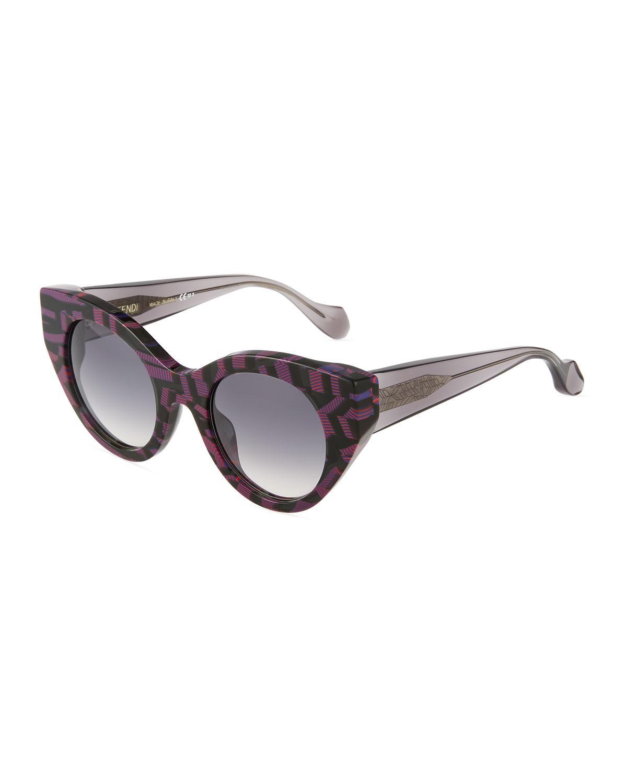 396cad4e2db Lyst - Fendi Fanny Printed Sunglasses in Gray