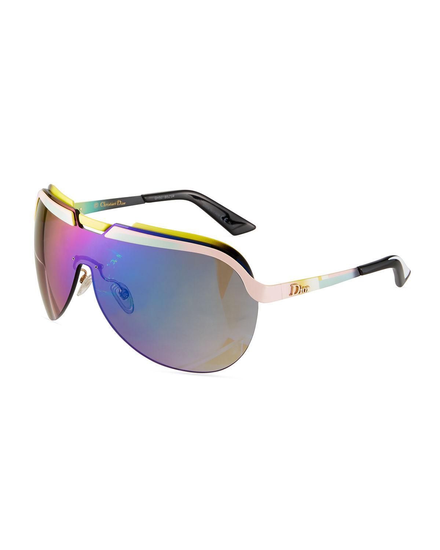 e2be572f6f Lyst - Dior Solar Multicolor-bar Shield Sunglasses in Green