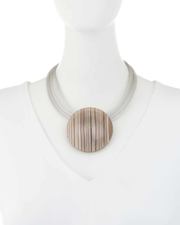 Lafayette 148 New York Multi-Strand Orb Pendant Collar Necklace 6KF0p