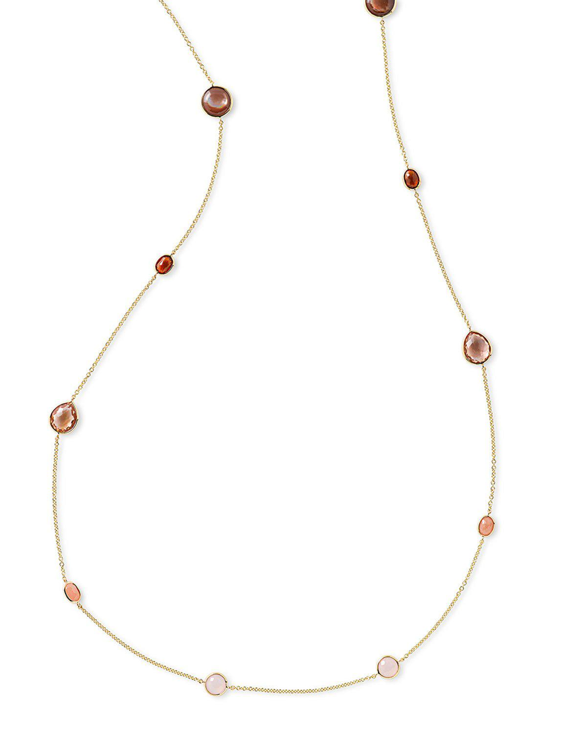 Ippolita 18K Rock Candy Sculpted Crescent Necklace in Midnight Rain 25uhoGn