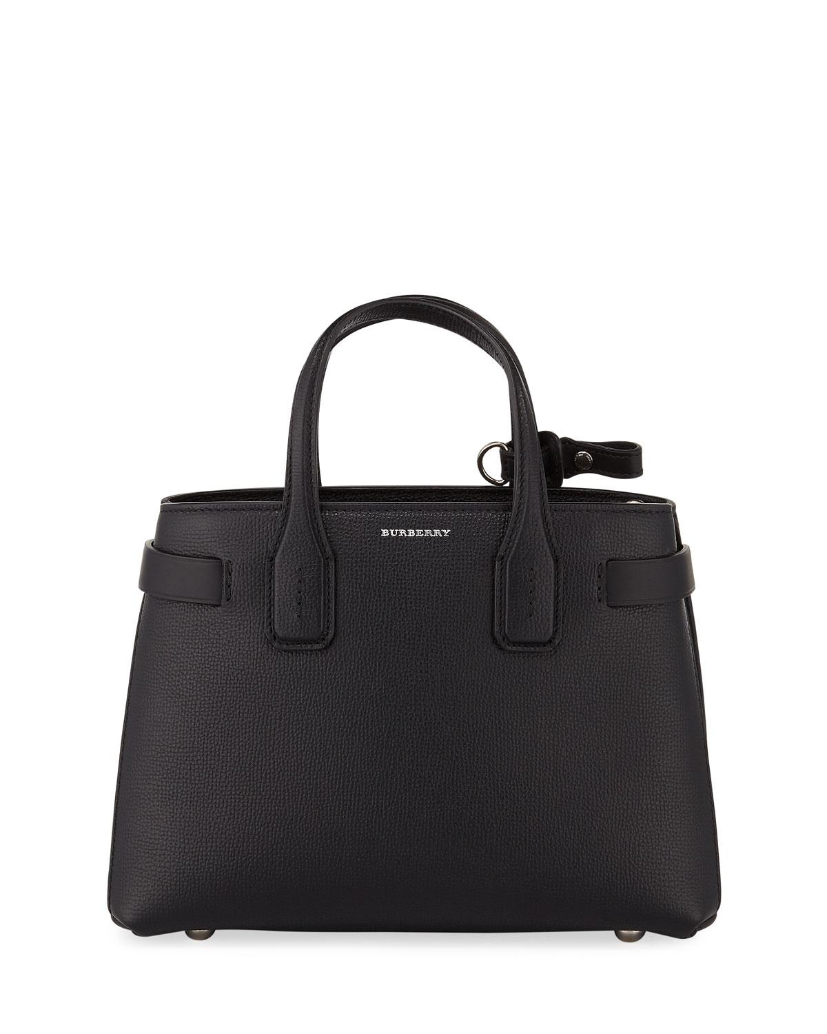 98a808388ffa Burberry - Black Banner Small Leather Tote Bag - Lyst. View fullscreen