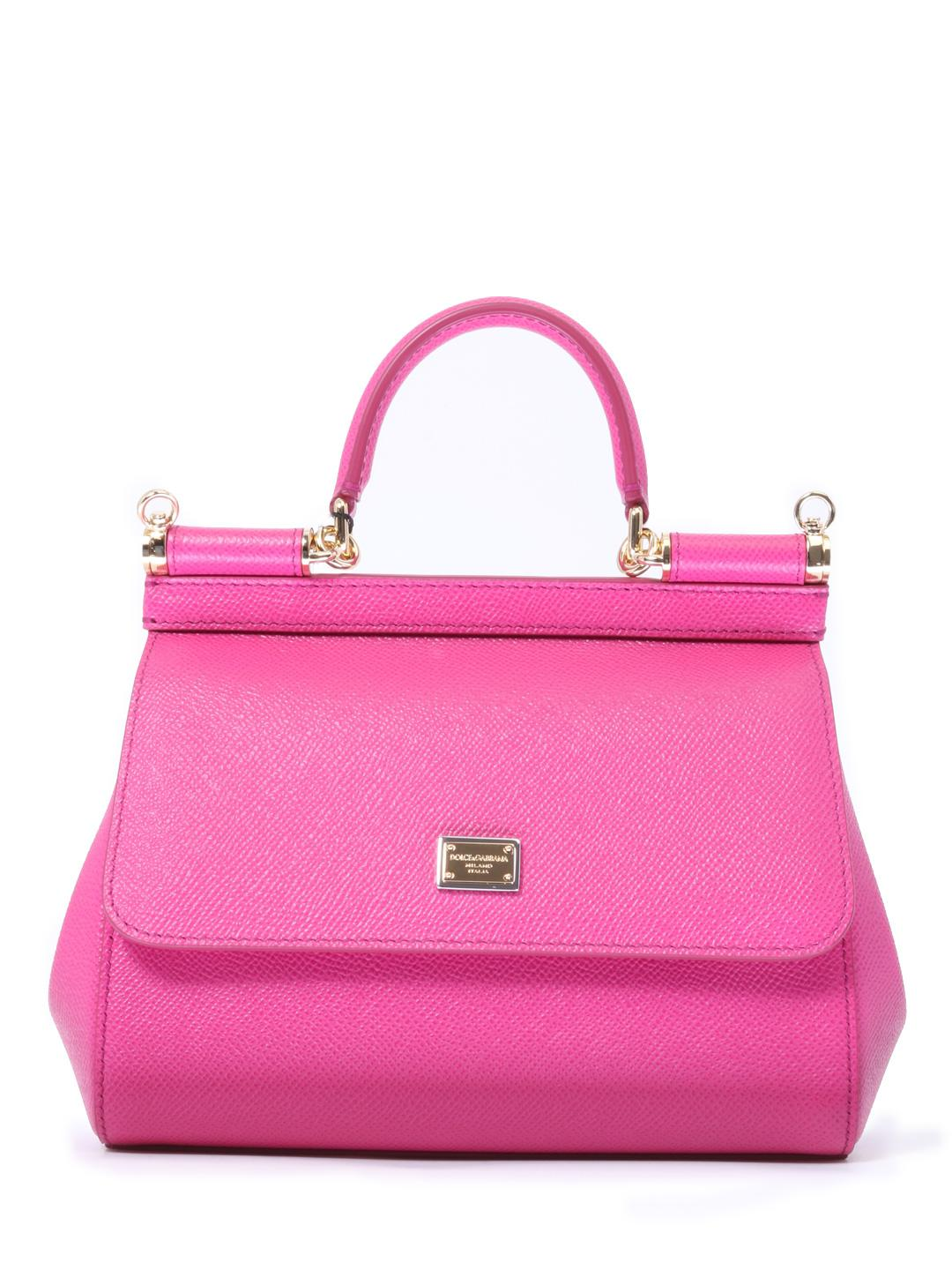 804499c046cd Lyst - Dolce   Gabbana Sicily Small Bag Fuchsia in Pink