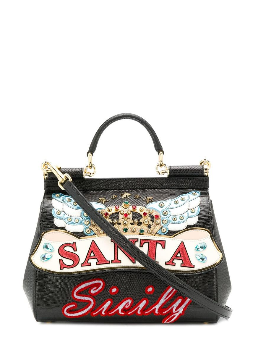 306b0e066fa4 Lyst - Dolce   Gabbana Bag Santa Sicily in Black