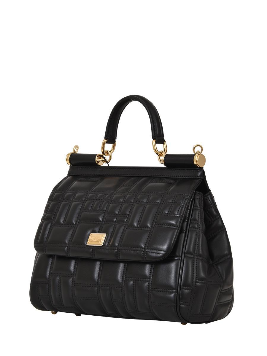 861c6a27c141 Dolce   Gabbana - Black Matelassé Nappa Tote - Lyst. View fullscreen