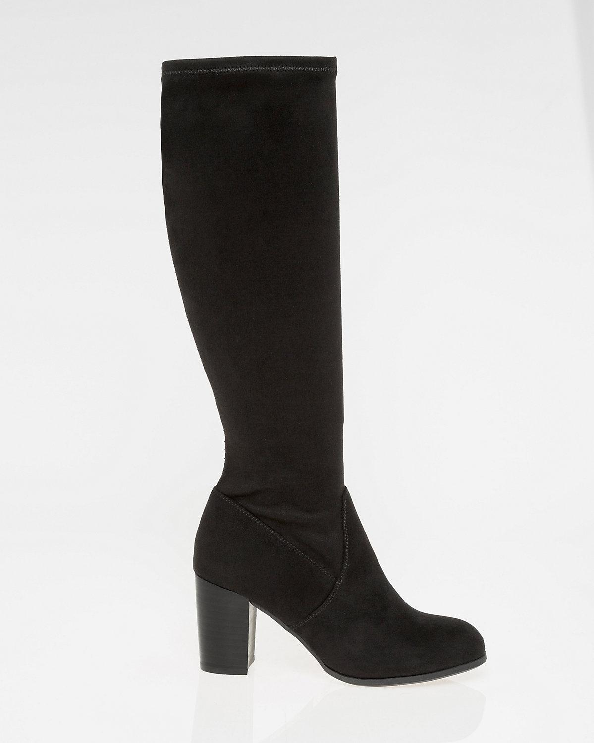 f012cdfb729 Le Chateau Stretch Suede-like Knee-high Boot in Black - Lyst