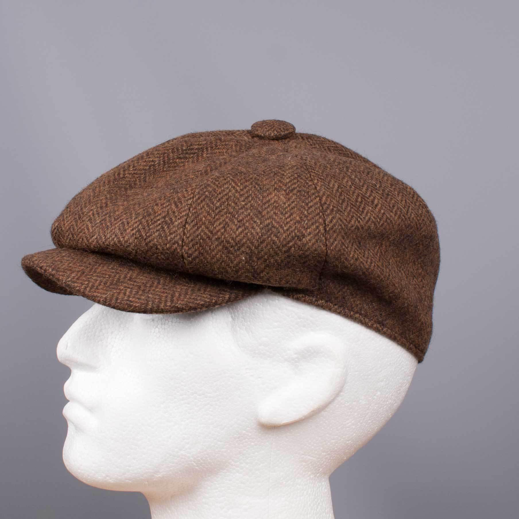 30602473582 John Victor - Tweed Herringbone Hat Brown for Men - Lyst. View fullscreen