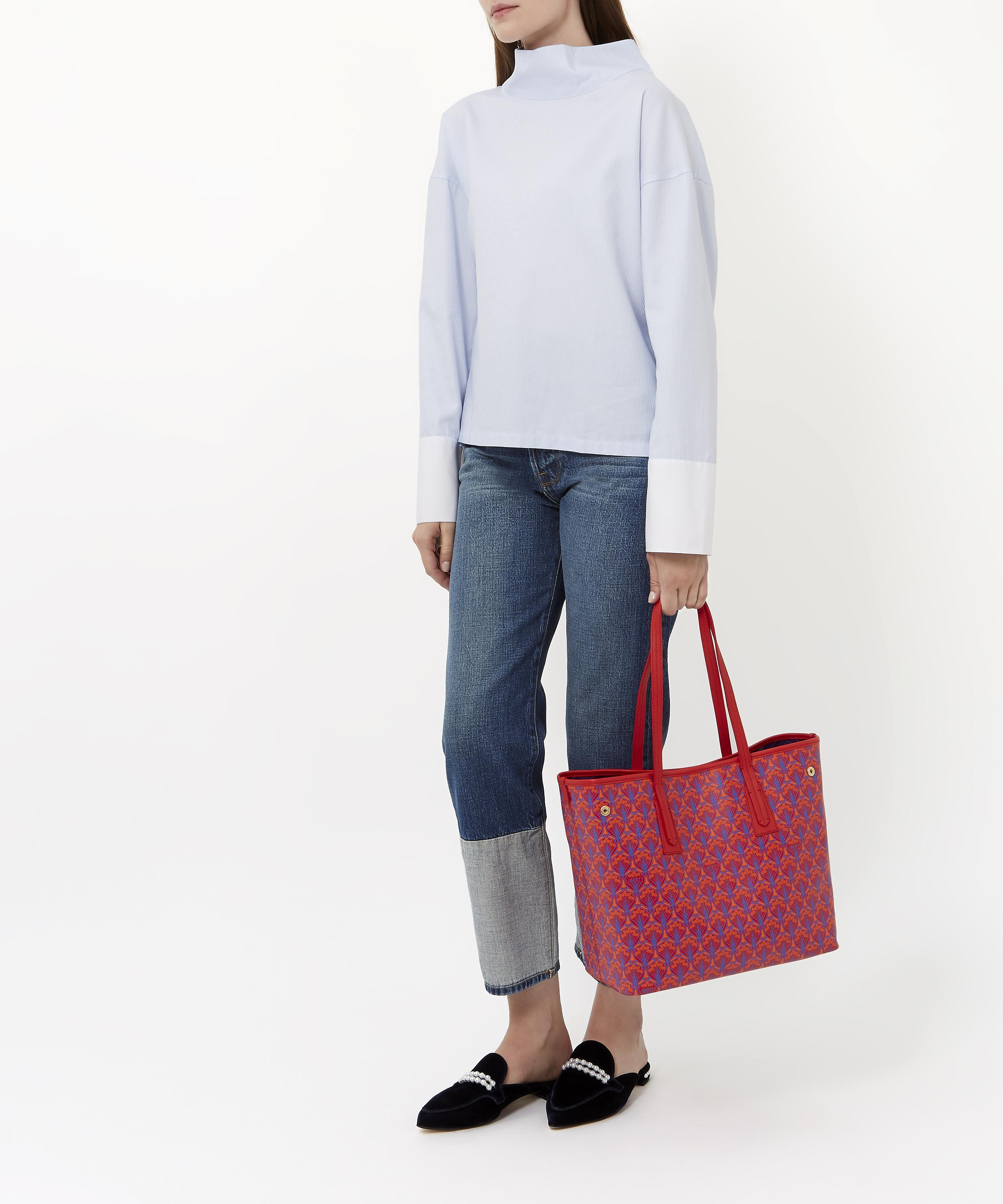 8f0f4bce49809 Lyst - Liberty Little Marlborough Tote Bag In Iphis Canvas in Red - Save 38%
