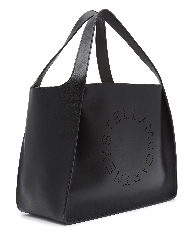 bf193cd13cf0 Lyst - Stella McCartney Alter-nappa Logo Tote Bag in Black - Save 4%