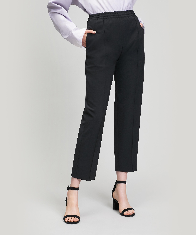 c021588e305 JOSEPH. Women s Black Dalton Wool-blend Track Trousers