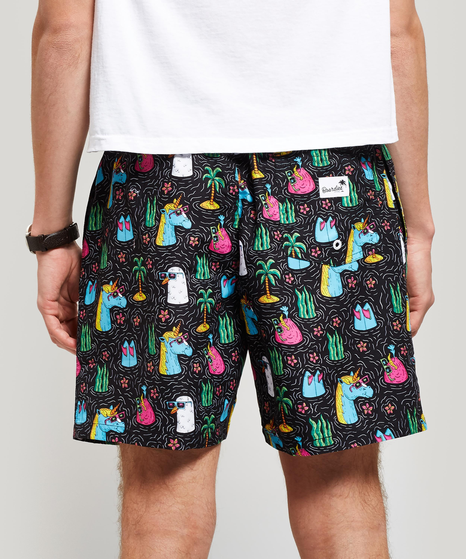 52e18581e4 Boardies - Black Mulga Unicorn Print Swim Shorts for Men - Lyst. View  fullscreen