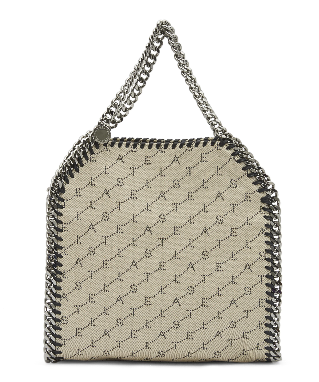 1431ed06bb00 Stella McCartney. Women s Natural Mini Falabella Monogram Canvas Tote Bag