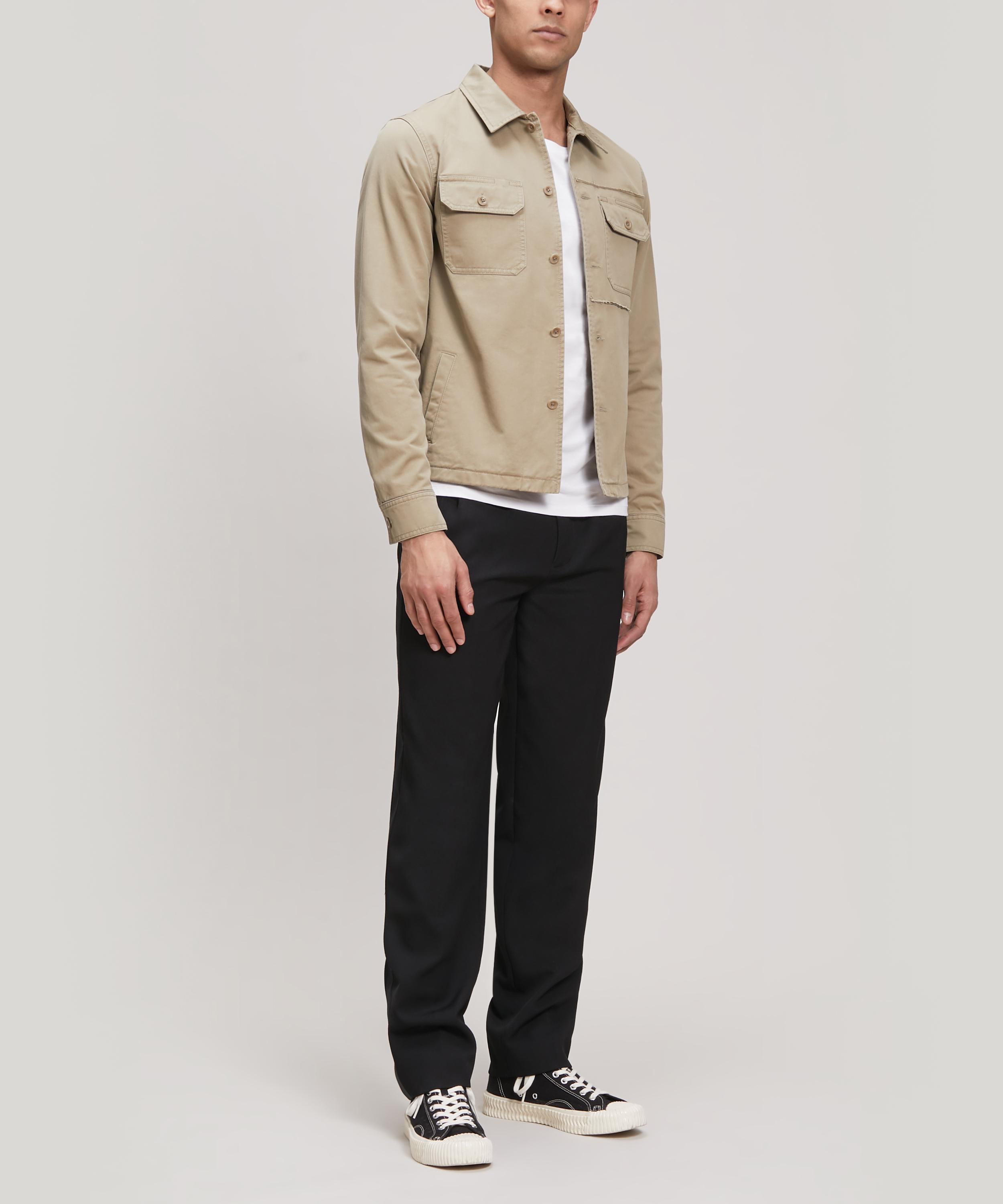 8bb69a252a5 Lyst - Maison Margiela Distressed Cotton-twill Overshirt in Natural for Men