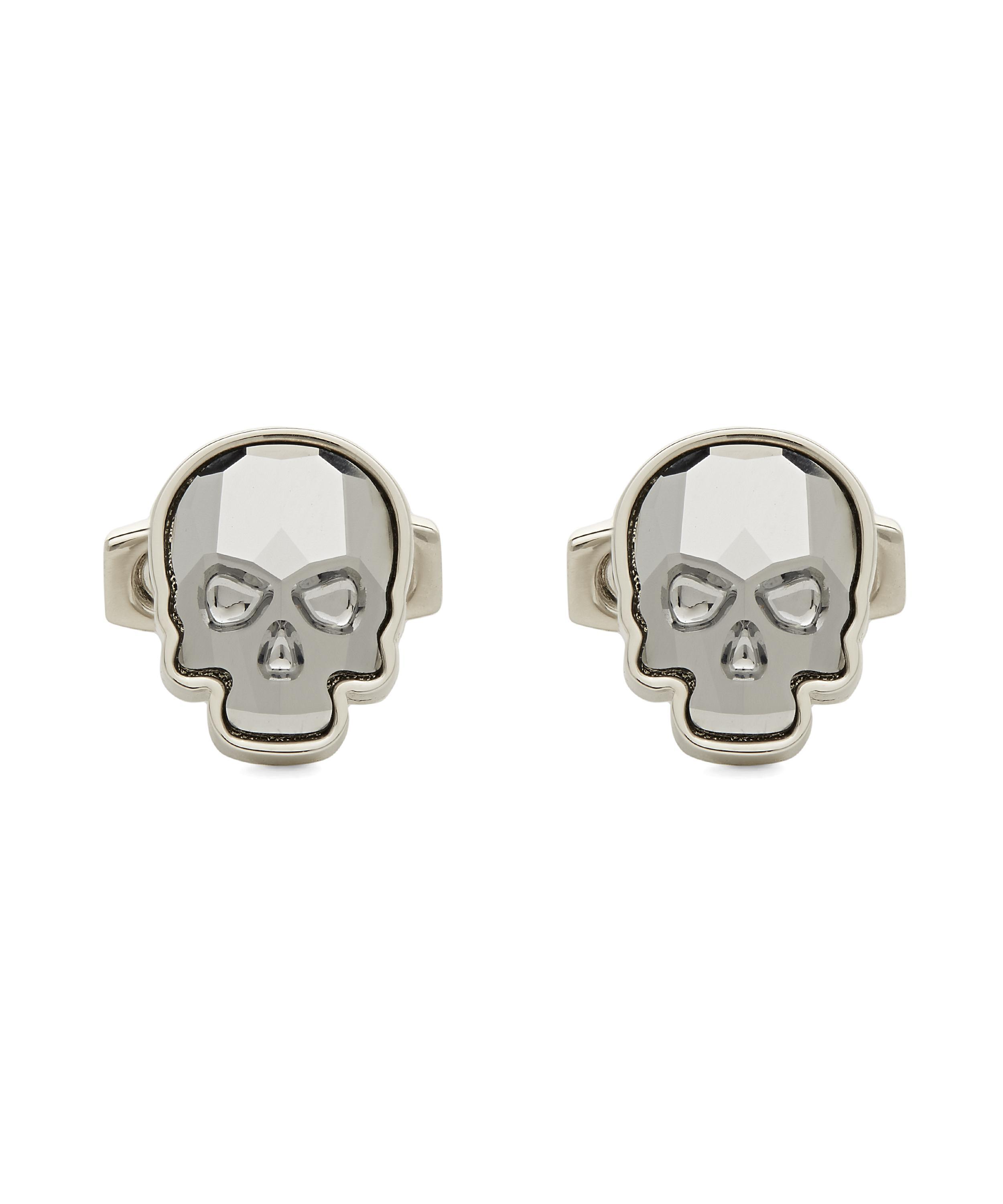 9532e4f08 Simon Carter Swarovski Crystal Skull Cufflinks in Metallic for Men ...