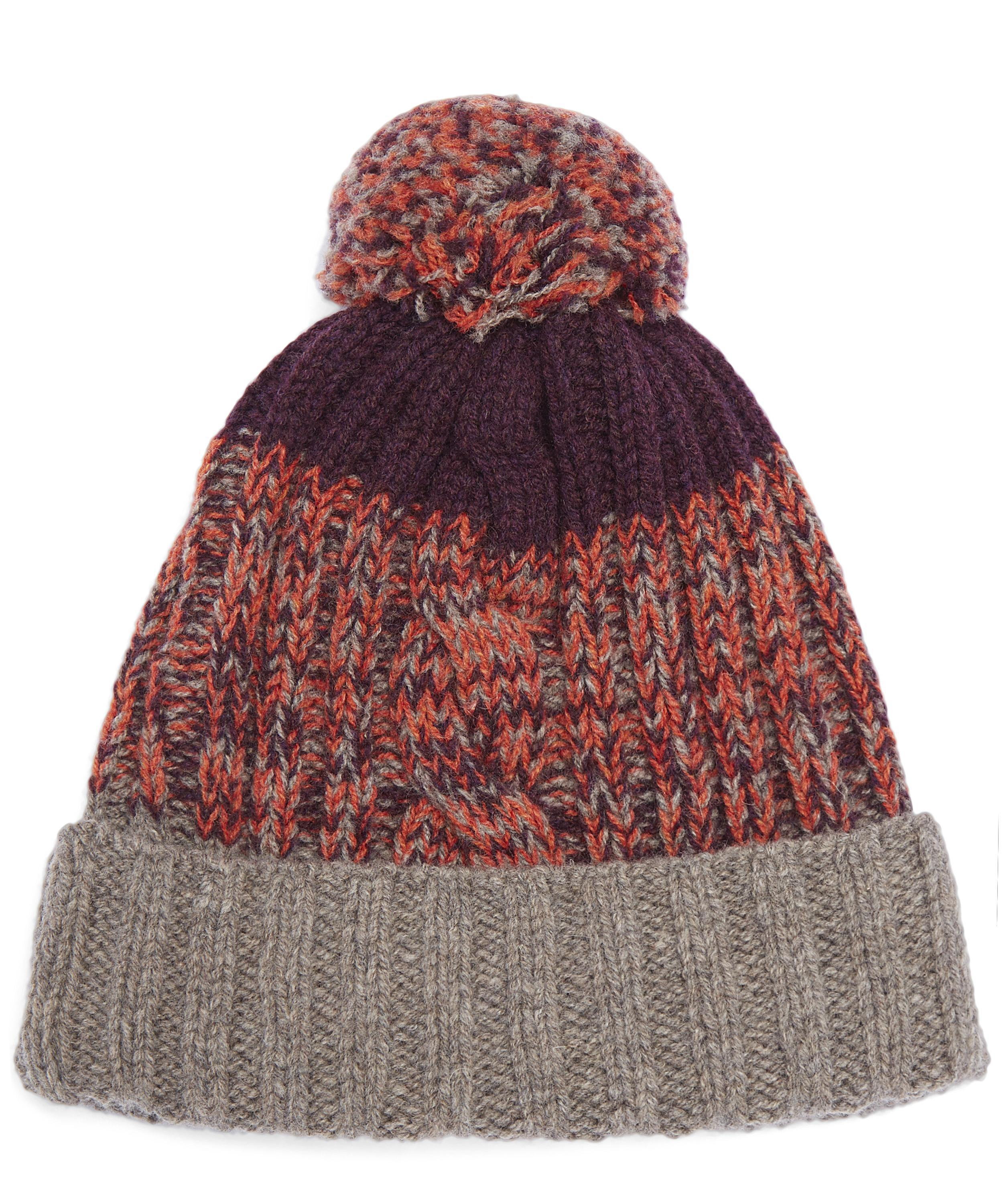 Lyst Paul Smith Lambswool Twisted Yarn Cable Knit Bobble Hat 145c5fa20dc5