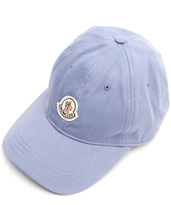 809200bbf0be4c Moncler Logo Cap in Blue for Men - Lyst