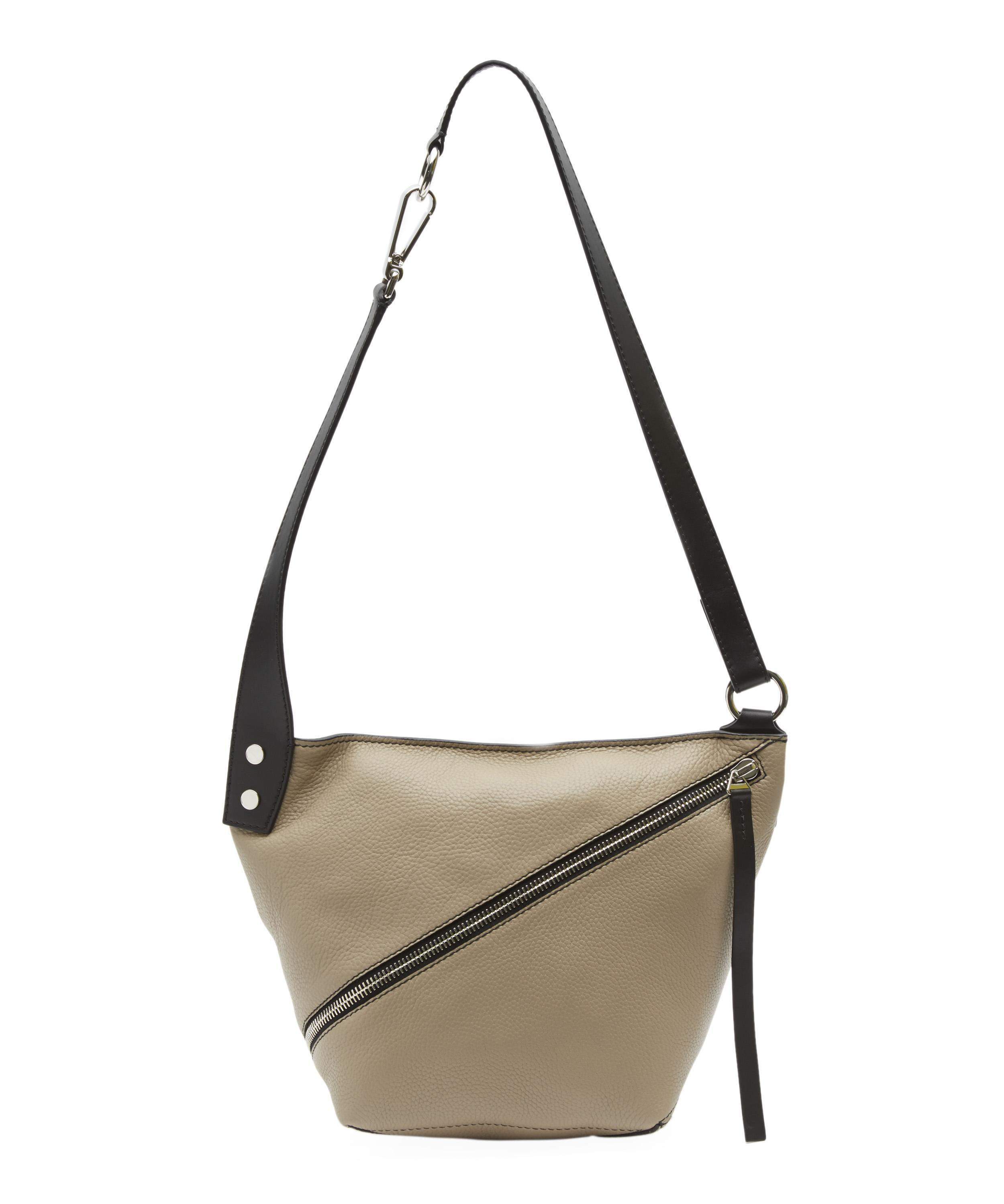 233b71e9abf2 Lyst - Proenza Schouler Grained Leather Diagonal Zip Small Hobo Bag
