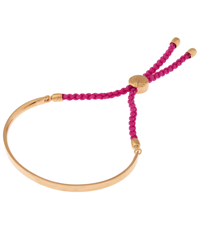 Fiji Friendship Bracelet - Cerise Pink, Gold Vermeil on Silver Monica Vinader