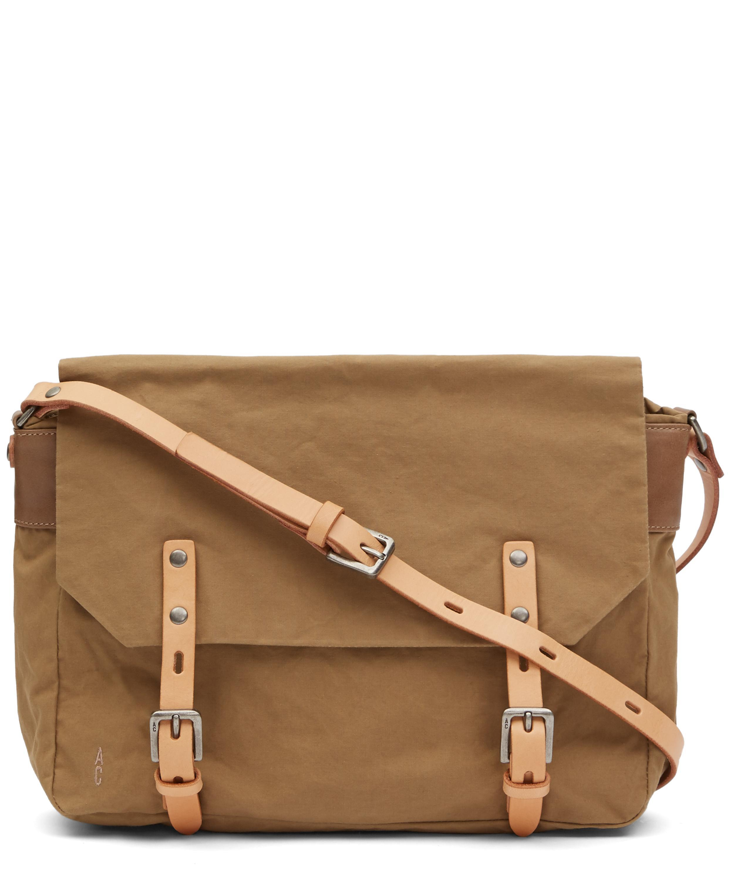 8d5eee0b50 Ally Capellino Small Jeremy Waxy Satchel Bag in Brown for Men - Lyst